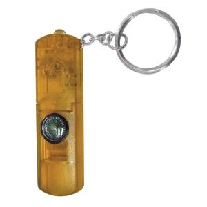 Брелок-фонарик со свистком и компасом