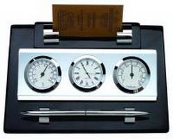 Часы-метеостанция с ручкой и подставкой для визиток