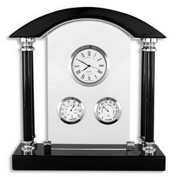 Часы-метеостанция настольная с рамкой для фото