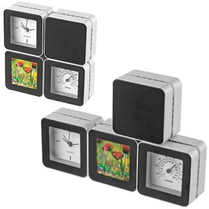 Часы с термометром и фоторамкой