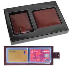 Набор:портмоне, футляр для визитных и дисконтных карт