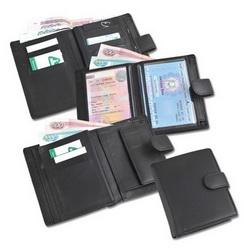 Портмоне на кнопке с отделениями для купюр, кредитных карт и монет