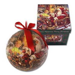 Набор из 8-и шаров новогодних