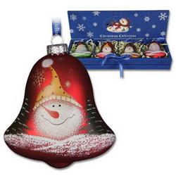 Набор из 4-х шаров новогодних