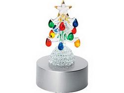 Новогодняя ёлка с разноцветными украшениями
