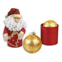 Дед Мороз с шариком в тубусе