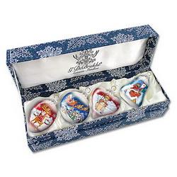 Набор из 4-х коллекционных ёлочных украшений