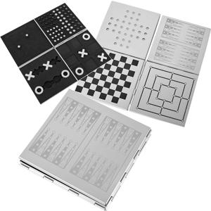 Набор игр: шахматы, нарды, шашки, крестики-нолики и уголки (на магните)