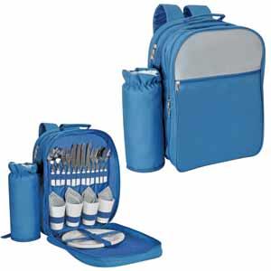 Набор для пикника на 4 персоны в рюкзаке с отделением для бутылки