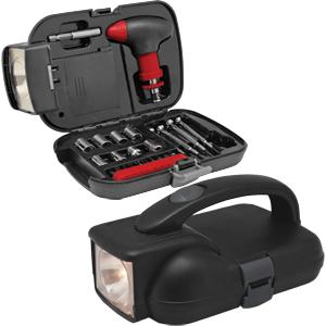 Набор инструментов в кейсе с фонарем