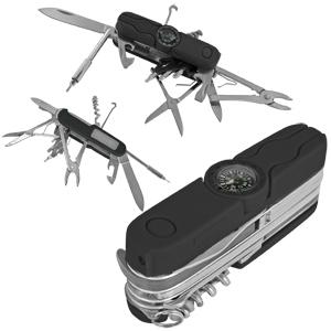 Нож многофункциональный с компасом и фонариком