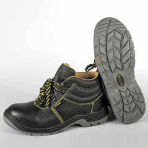 Ботинки кожаные с металлоподноском и металлостелькой