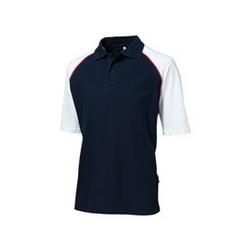 Рубашка-поло с цветными рукавами реглан