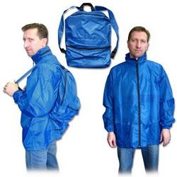 Куртка-ветровка-рюкзак с капюшоном