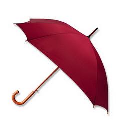 Зонт-трость квадратный с деревянной ручкой