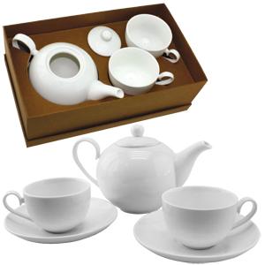 Чайный набор: чайник и две чайные пары
