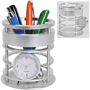 Часы с подставкой для письменных принадлежностей